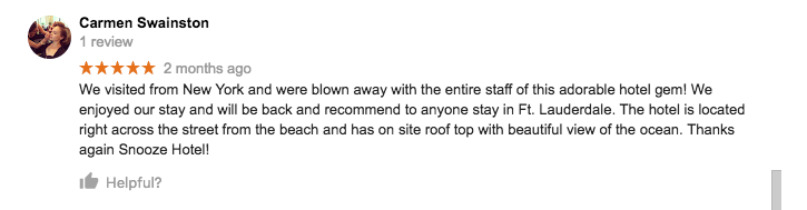 We enjoyed our stay and recommend to anyone to stay in Fort Lauderdale.
